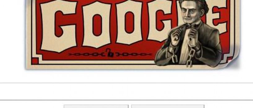 Google ii dedica logo-ul de astazi magicianului Harry Houdini