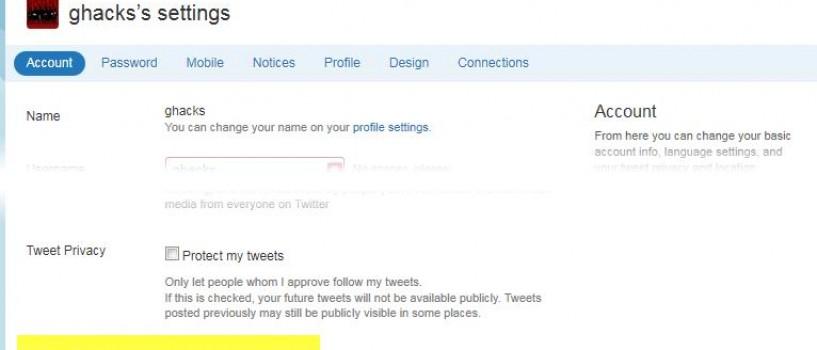 Mai multa siguranta pentru utilizatorii Twitter!