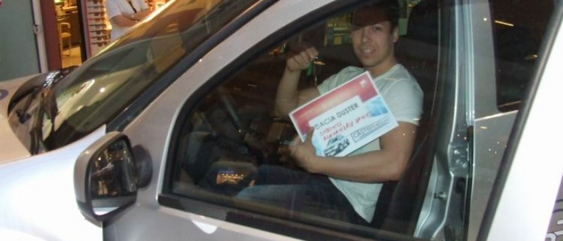 Un bucureştean a câştigat Dusterul pus la bătaie de Antena 1 şi Dacia!
