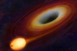 Astronomii au surprins ultimele clipe ale unei stele inghitite de o gaura neagra!
