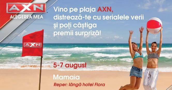 AXN aduce voia buna pe plajele din Mamaia, Neptun si Eforie Nord!
