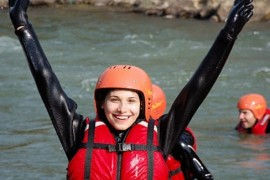 Ioana Picoş s-a apucat de rafting!