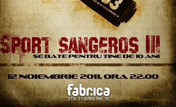 Sport Sângeros III aniverseaza 10 ani de la infiintare, sambata, in Club Fabrica!