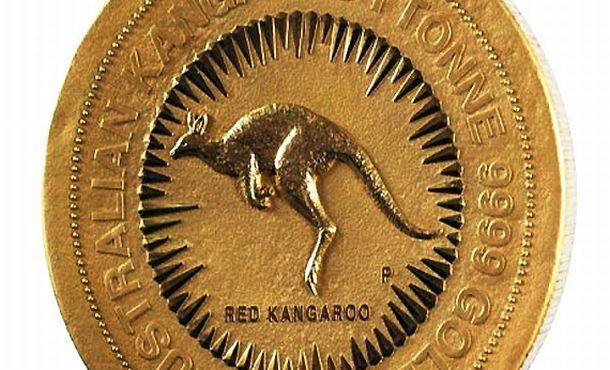 Cea mai mare moneda de aur din lume cantareste o tona!