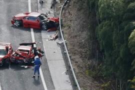 12 masini de lux au fost implicate in (probabil) cel mai scump accident auto din istorie!