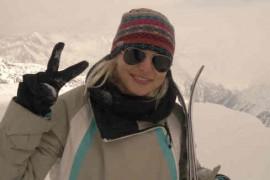 Jojo a luat lectii de schi in Austria, de la sotul ei