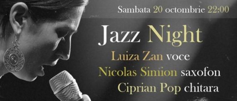 Seara de jazz cu Luiza Zan la Godot Cafe-Teatru