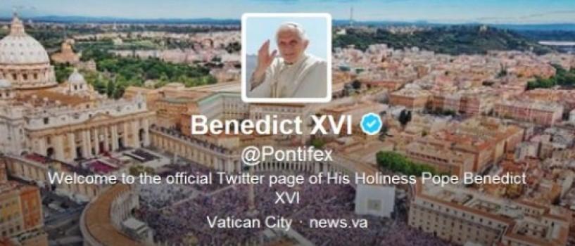 Papa Benedict XVI a scris astazi primul mesaj pe Twitter