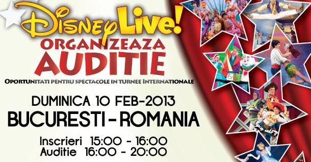 Disney Live! organizeaza auditii la Bucuresti pentru turnee internationale