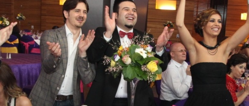 Mihai Petre si-a botezat weekendul acesta fetita