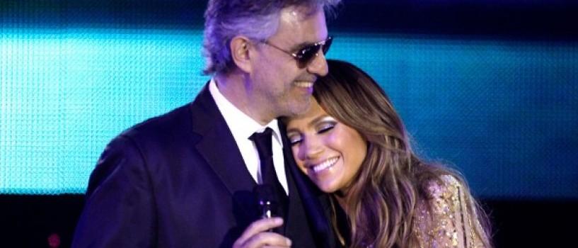 Andrea Bocelli si Jennifer Lopez au cantat impreuna pentru o cauza nobila!