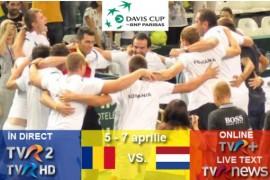Cupa Davis: România-Olanda, în direct la TVR