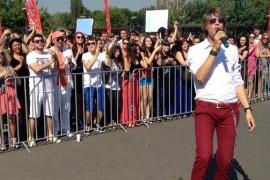 Tudor Turcu a venit la audiţiile X Factor din Bucureşti!