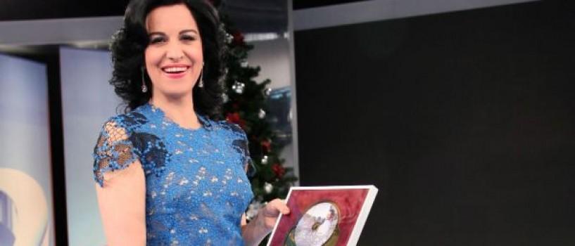 Angela Gheorghiu a primit Discul de Aur pentru albumul O ce veste minunata