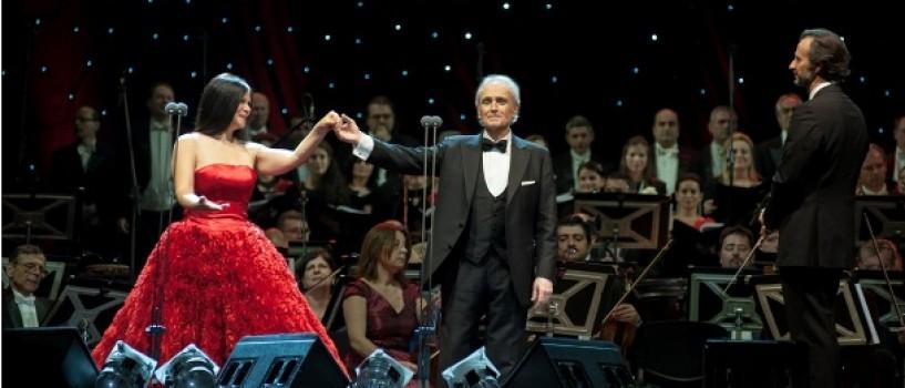 Atmosfera de poveste, aseara, la concertul sustinut de José Carreras