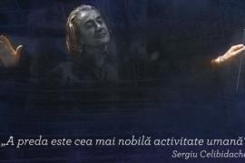Sergiu Celibidache si-a luat ramas bun de la Romania!