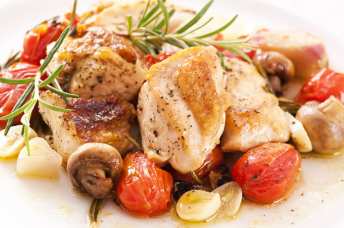 Chicken-fillet-with-mushrooms-and-tomatos