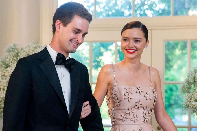 Miranda Kerr s-a logodit cu miliardarul de la Snapchat, Evan Spiegel!