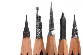 Salavat Fidai sculpteaza in mina de creion. Operele lui sunt uimitoare!