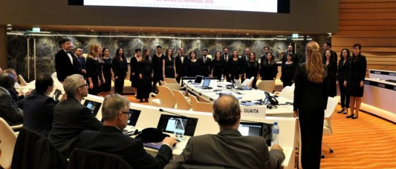 Corul Madrigal numit Ambasador al Libertatii, Sperantei si Pacii, la Palatul ONU de la Geneva