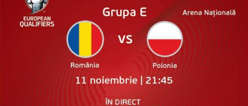 Meciul Romania-Polonia va fi transmis live la TVR