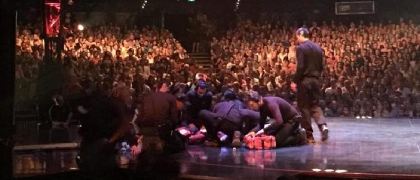 Acrobat Cirque du Soleil grav ranit in timpul spectacolului!