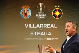 Meciul Steaua – Villarreal, de la ora 18.00, la Pro Tv!