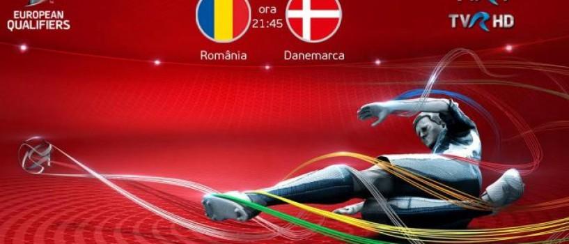 Meciul Romania-Danemarca va fi transmis live de TVR!