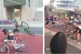 VIDEO: Biciclisti luati de vant la o cursa de ciclism din Cape Town!