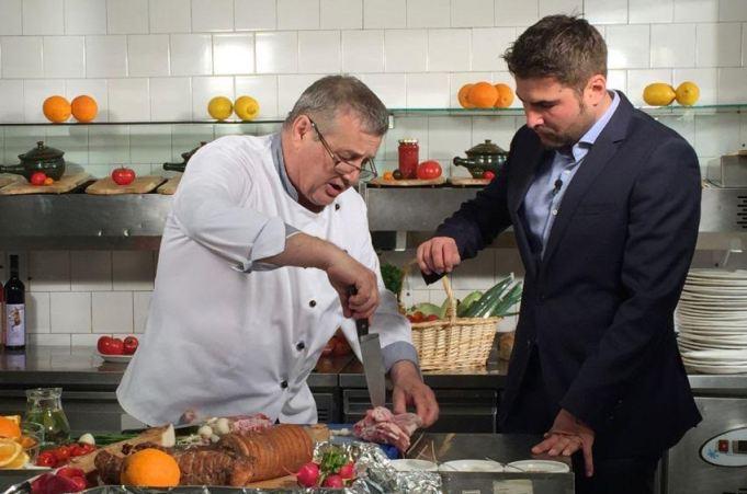 Adrian Mutu si Mircea Dinescu