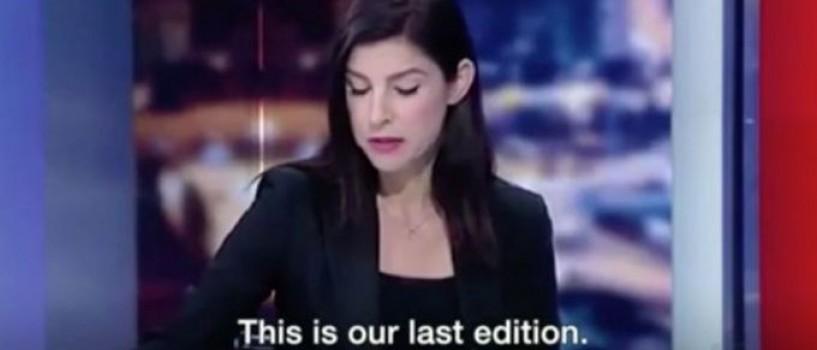 VIDEO: Prezentatoare TV in lacrimi dupa ce a aflat in direct ca televiziunea se inchide!