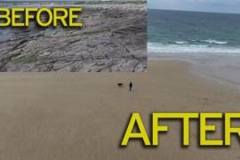 O plaja disparuta in urma cu 33 de ani a reaparut peste noapte!