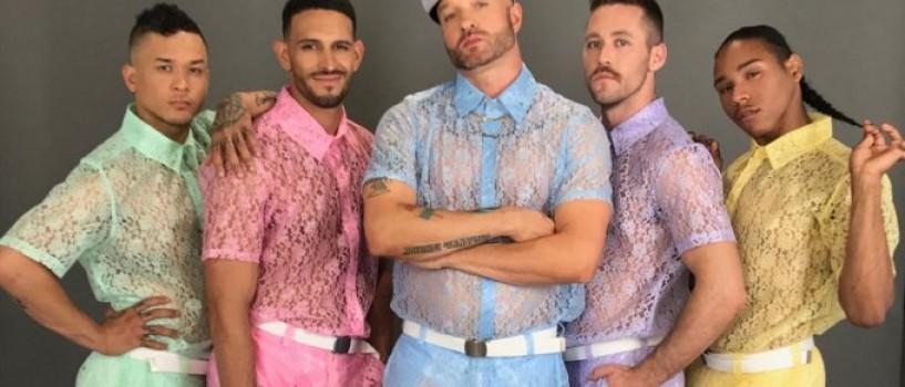 Un brand de imbracaminte creeaza pantaloni si camasi barbatesti din dantela transparenta!