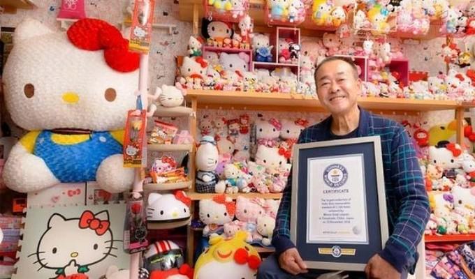 VIDEO: Cel mai mare fan Hello Kitty din lume este un fost politist de 67 de ani!