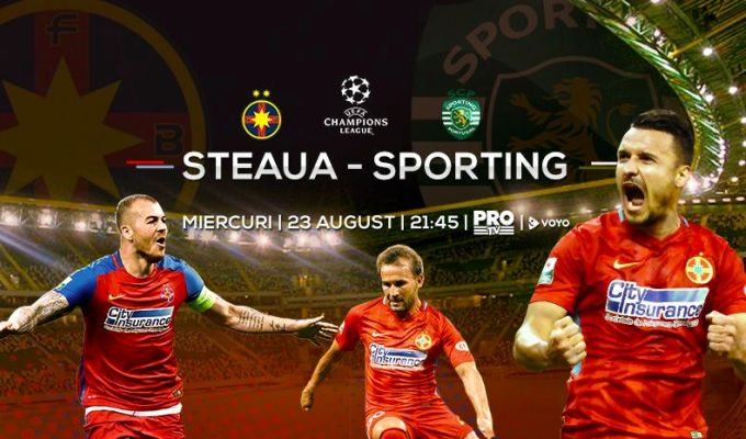 FCSB – Sporting Lisabona e maine, de la 21:45, la PRO TV!