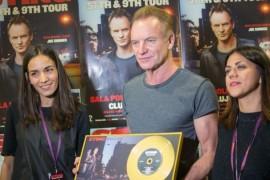 Sting a primit Discul de Aur, aseara, la Cluj Napoca!