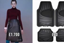 Fite neintelese: Balenciaga a creat o fusta care seamana cu covorasul de cauciuc de la masina!