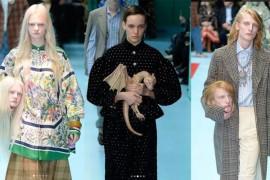 Modelele au purtat capete umane pe post de accesorii la prezentarea colectiei Gucci Cyborg de la Milano!